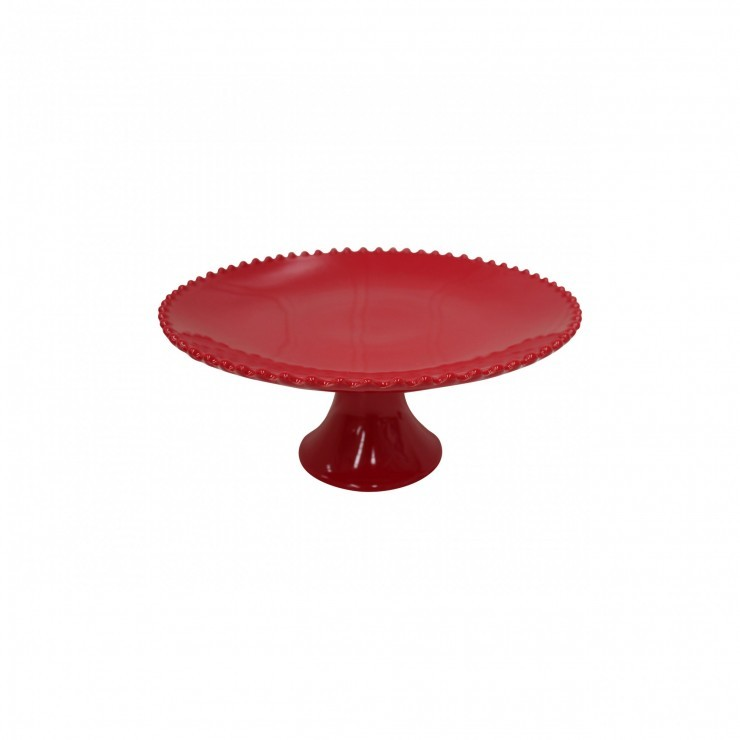 "PEARL RUBI 11"" FOOTED PLATE"