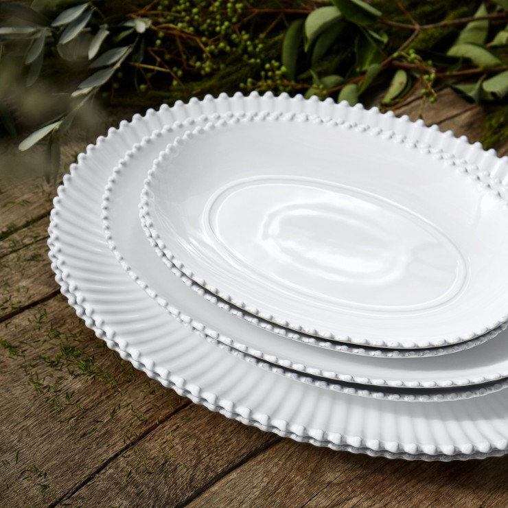 "PEARL 13"" OVAL PLATTER"
