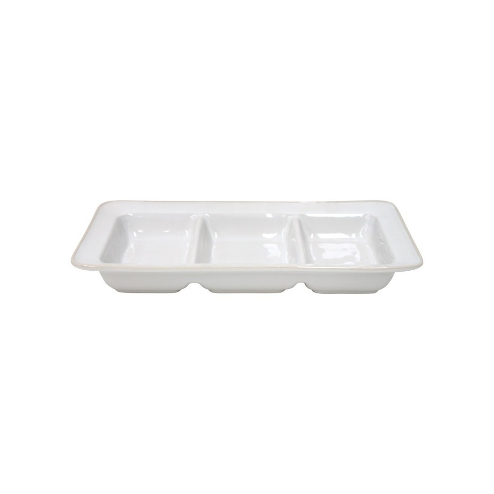 "DIVIDED DISH 13"" BEJA"