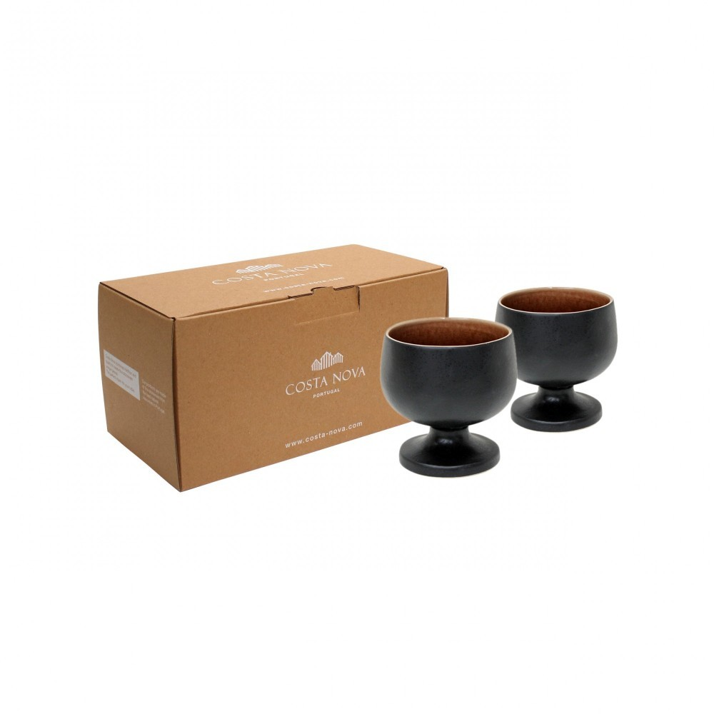RIVIERA 2 FOOTED BOWLS GIFT BOX