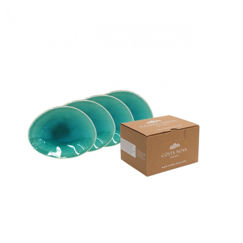 RIVIERA 4 BREAD PLATES GIFT BOX