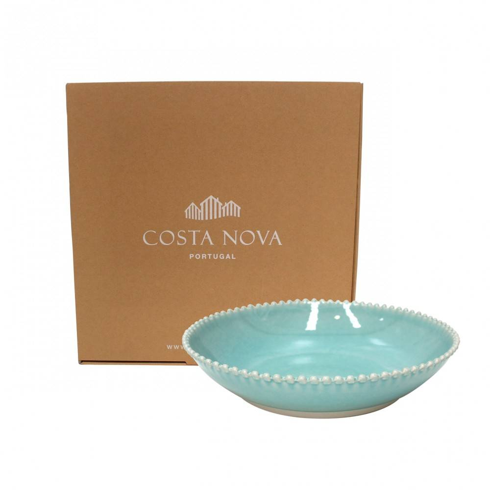 PEARL AQUA PASTA/SERVING BOWL