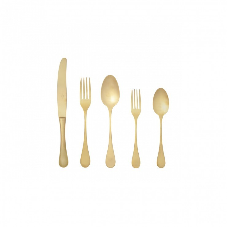 ANTIGO FLATWARE SET 20 PCS. - BRUSHED GOLD