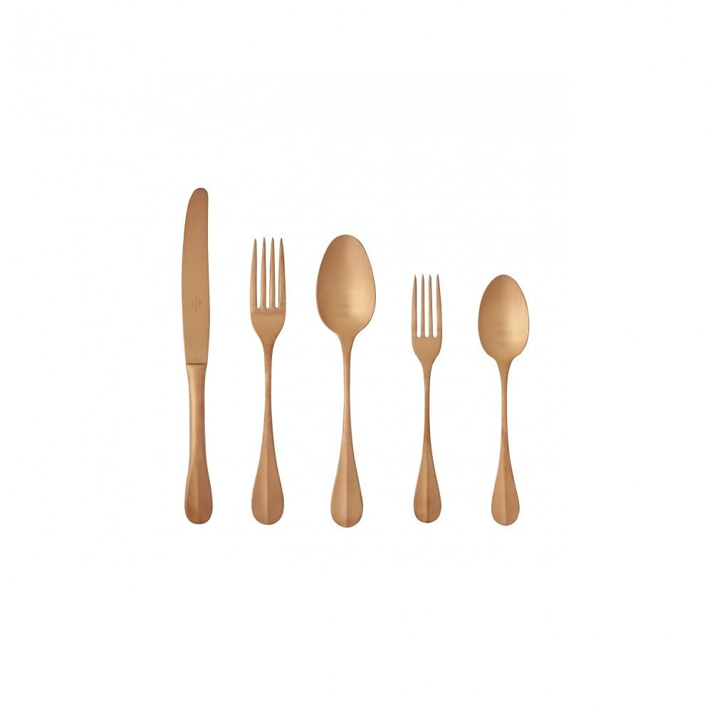 NAU FLATWARE 20 PCS - BRUSHED GOLD