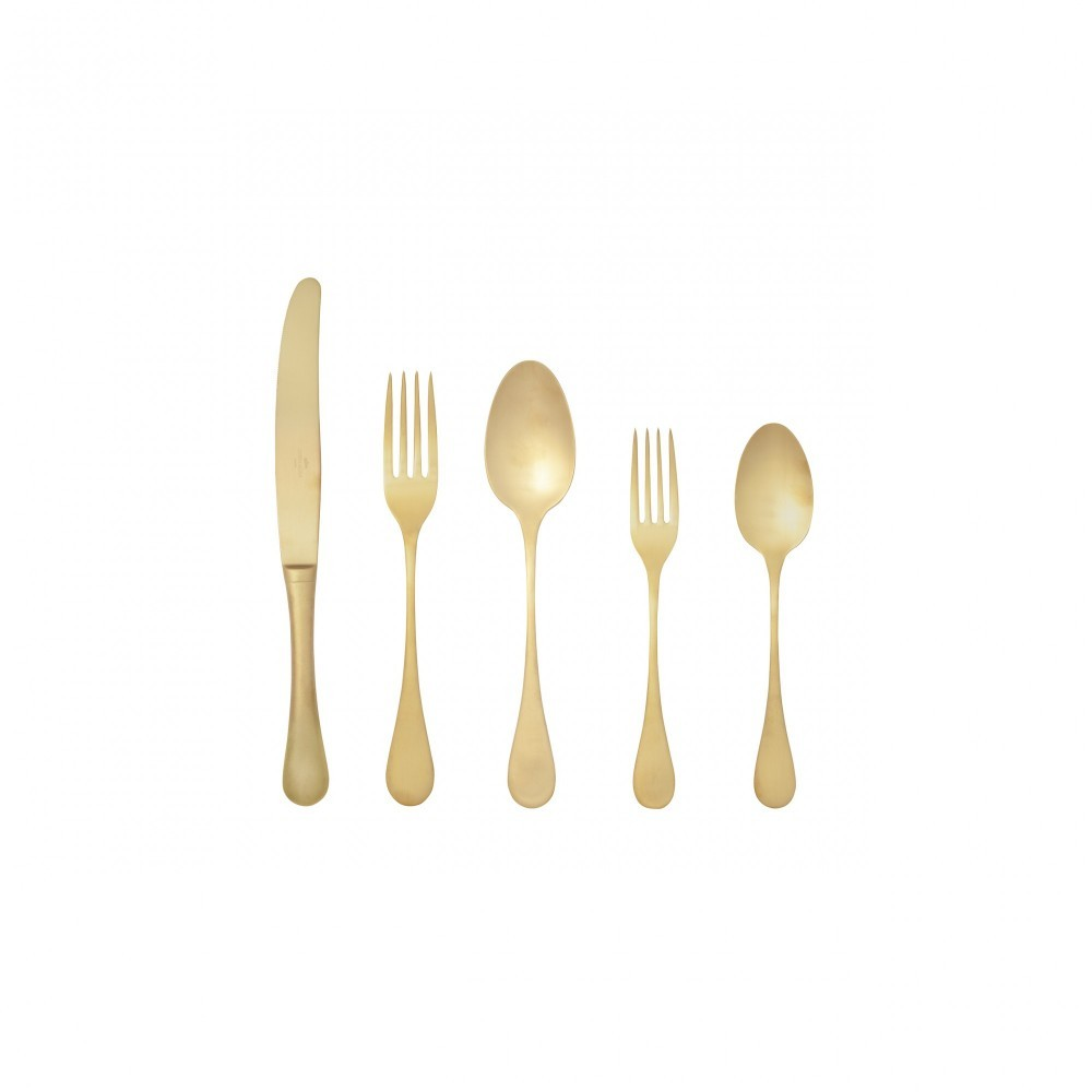 ANTIGO FLATWARE SET 5 PCS. - BRUSHED GOLD