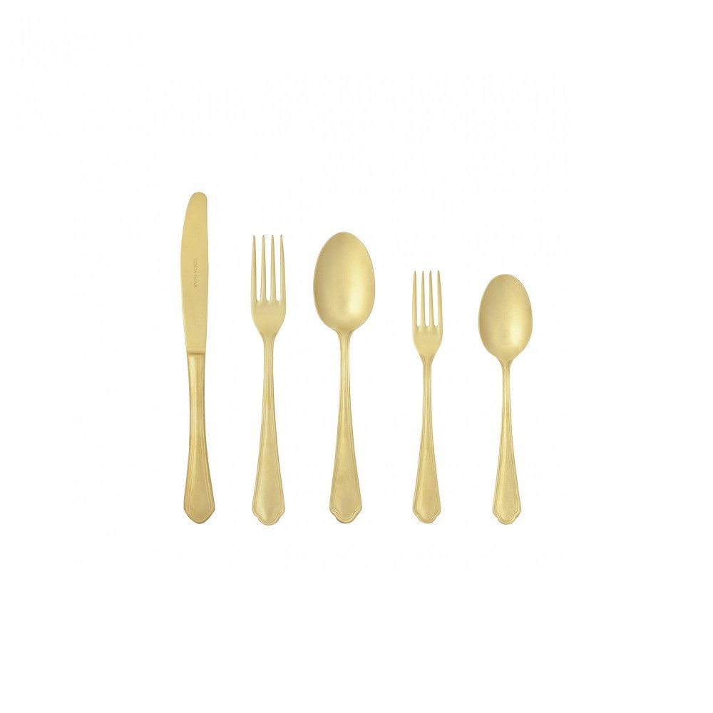 LAGO FLATWARE SET 5 PCS - MATE GOLD