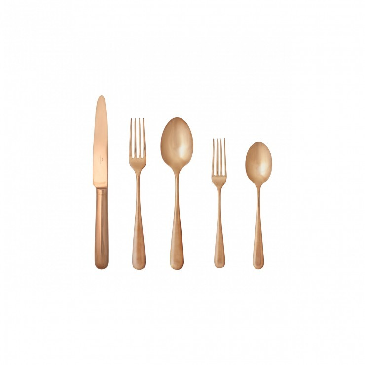 LUMI FLATWARE 5 PCS SET - POLISHED COPPER