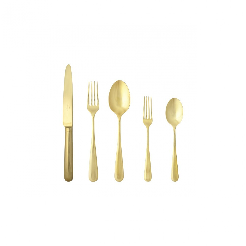 LUMI FLATWARE 5 PCS SET - POLISHED GOLD