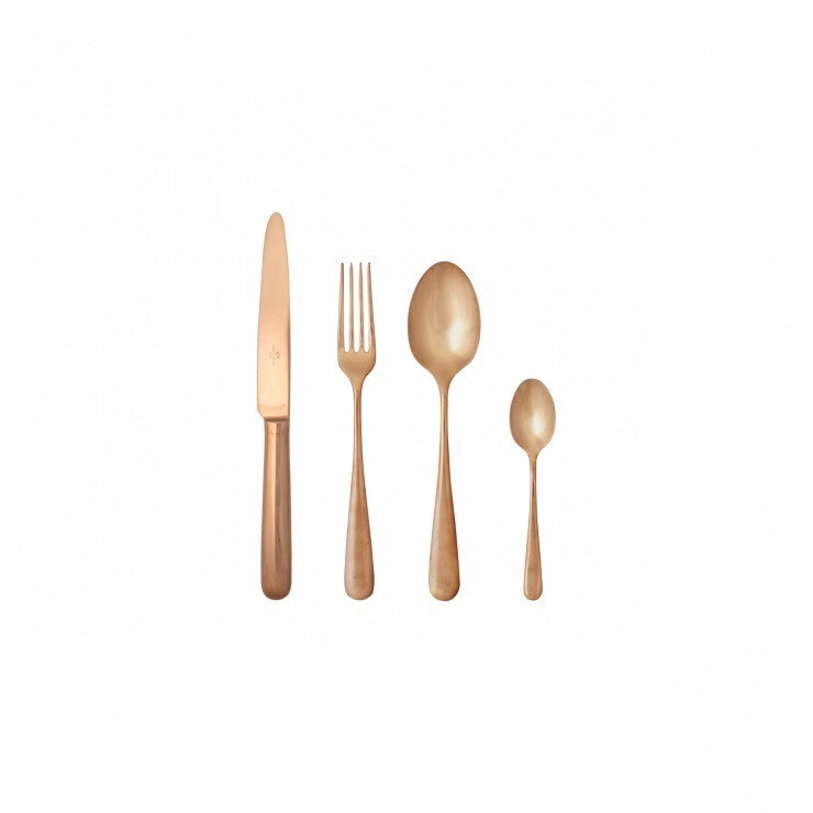 LUMI FLATWARE 20 PCS SET - Polished copper