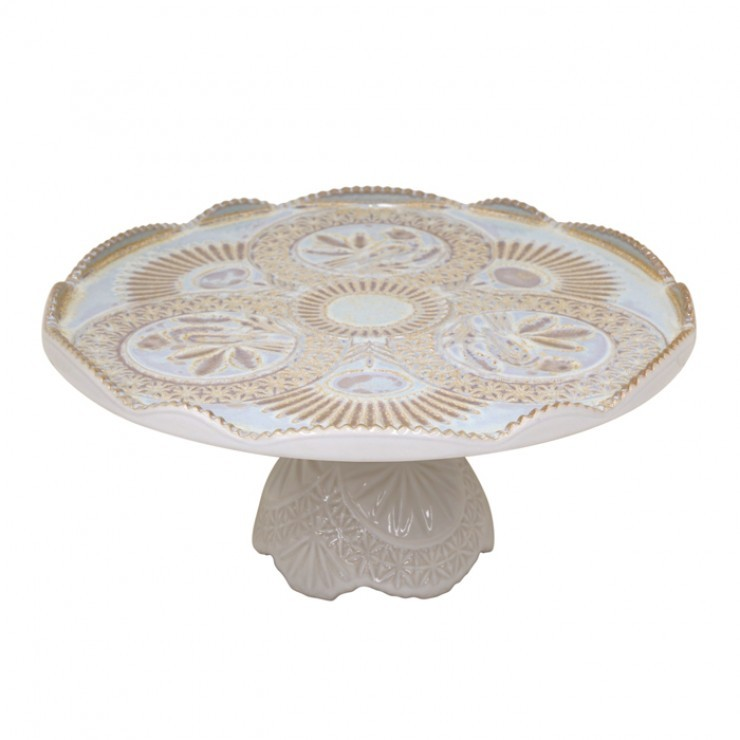 "FOOTED PLATE 12"" CRISTAL"