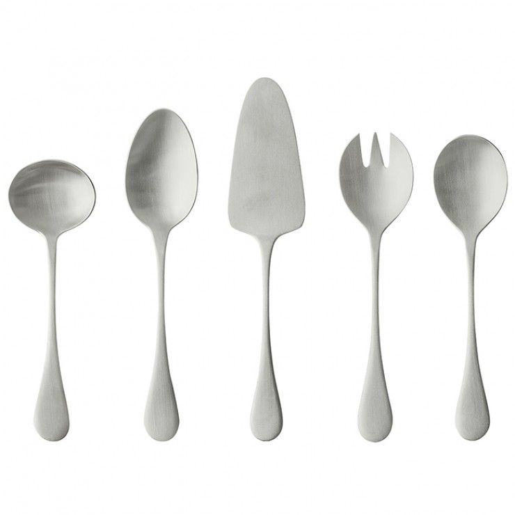 "CUBERTERÍA ANTIGO ""HOSTESSS SERVING SET"" 5 PIEZAS - ESCOBADO"