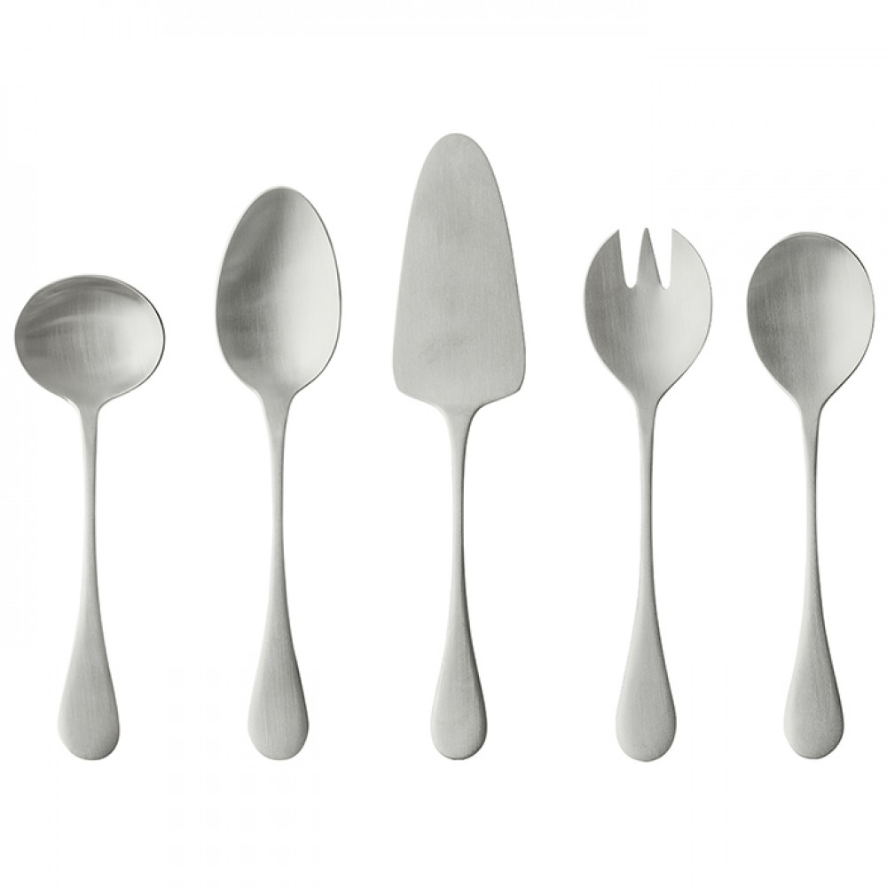 ANTIGO FLATWARE HOSTESSS SERVING SET 5 PCS. - BRUSHED