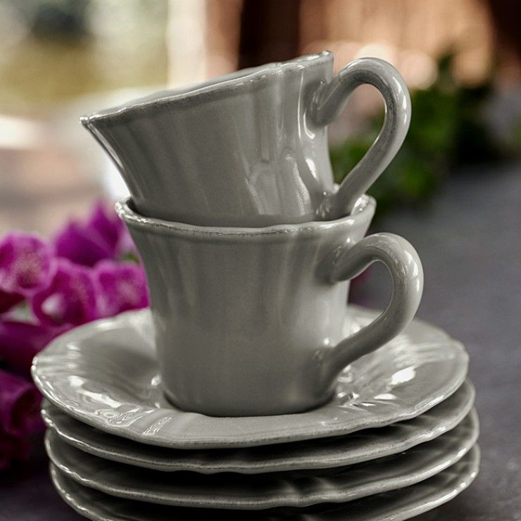 VILLAGE COFFEE CUP & SAUCER
