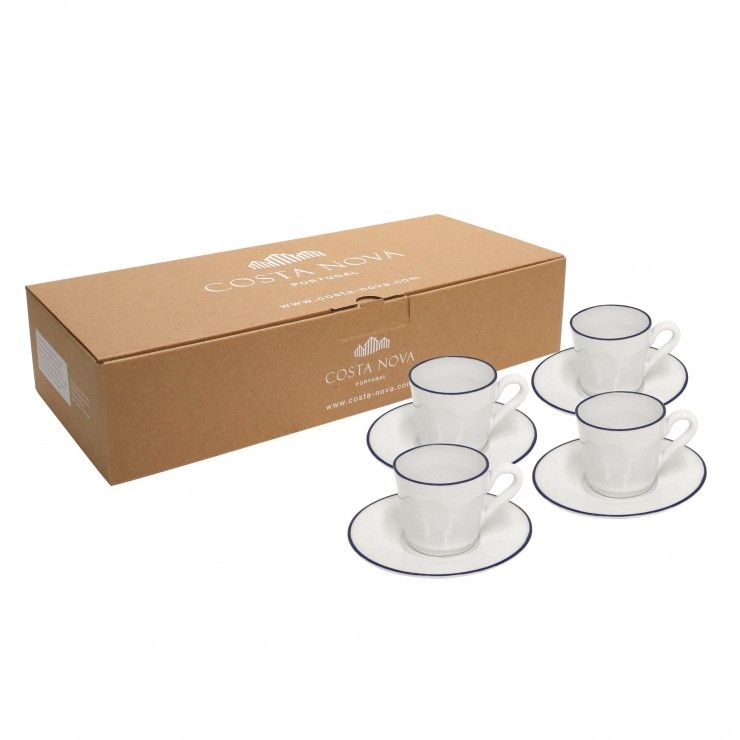 GIFT 4 COFFEE CUPS AND SAUCERS BEJA