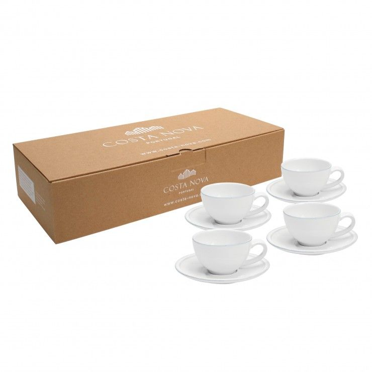 GIFT 4 COFFEE CUPS & SAUCERS FRISO