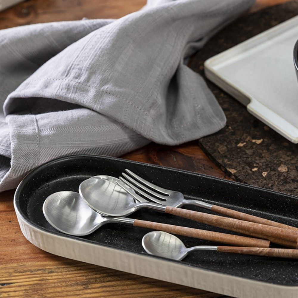 MITO FLATWARE 20 PCS SET - BRUSHED WITH RESIN CABLE