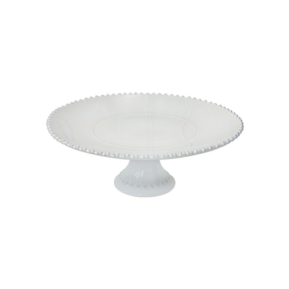 GIFT FOOTED PLATE LARGE PEARL