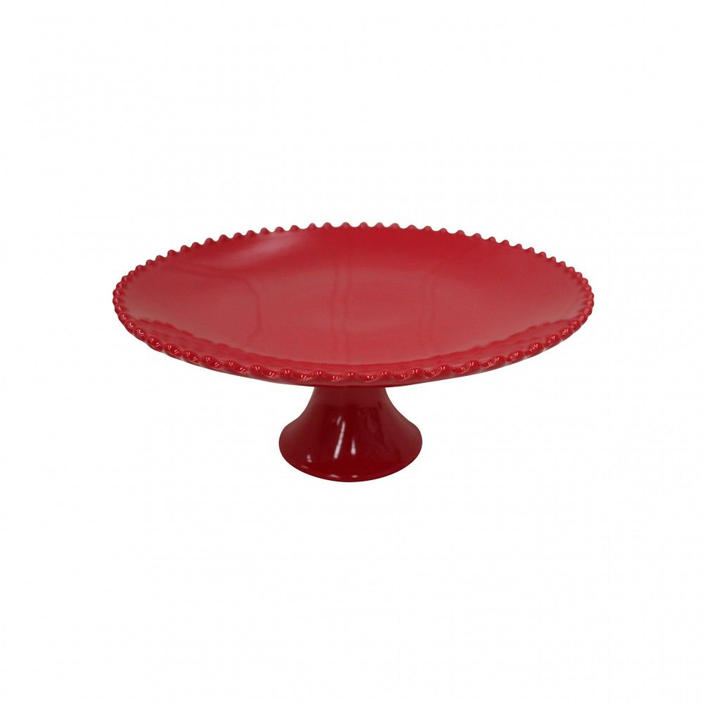 GIFT FOOTED PLATE LARGE PEARL RUBI