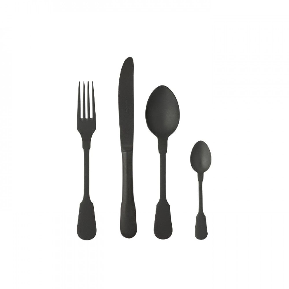 SAGA FLATWARE 24 PCS - MATTE BLACK