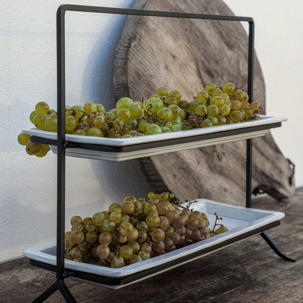 """2 TIER STAND WITH HOLDER 15"""" PLANO"""