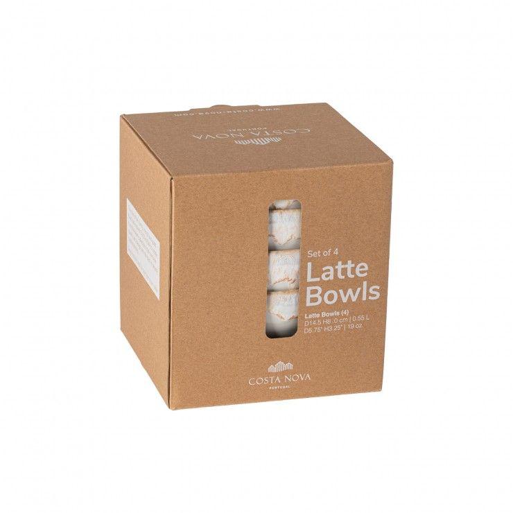 SET 4 LATTE BOWLS