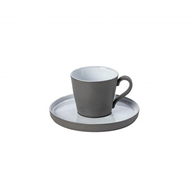 TEA CUP AND SAUCER 7 OZ. LAGOA ECOGRES