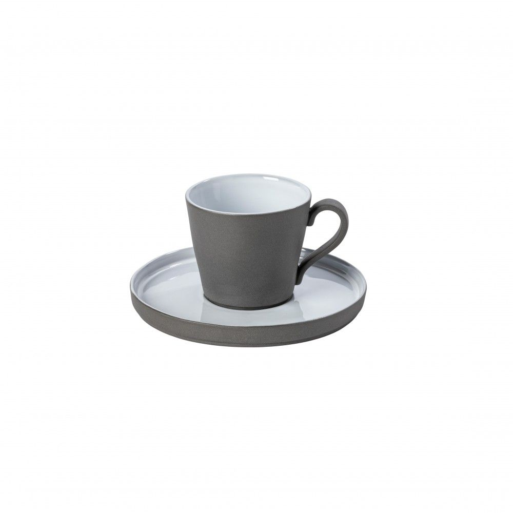 TEA CUP AND SAUCER 7 OZ. LAGOA ECOGRES