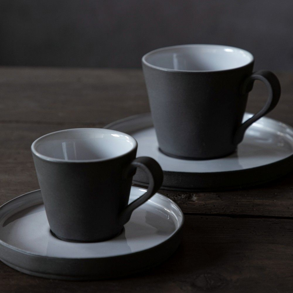 COFFEE CUP AND SAUCER 3 OZ. LAGOA ECOGRES