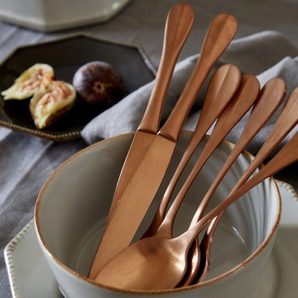 NAU FLATWARE 5 PCS - BRUSHED COPPER