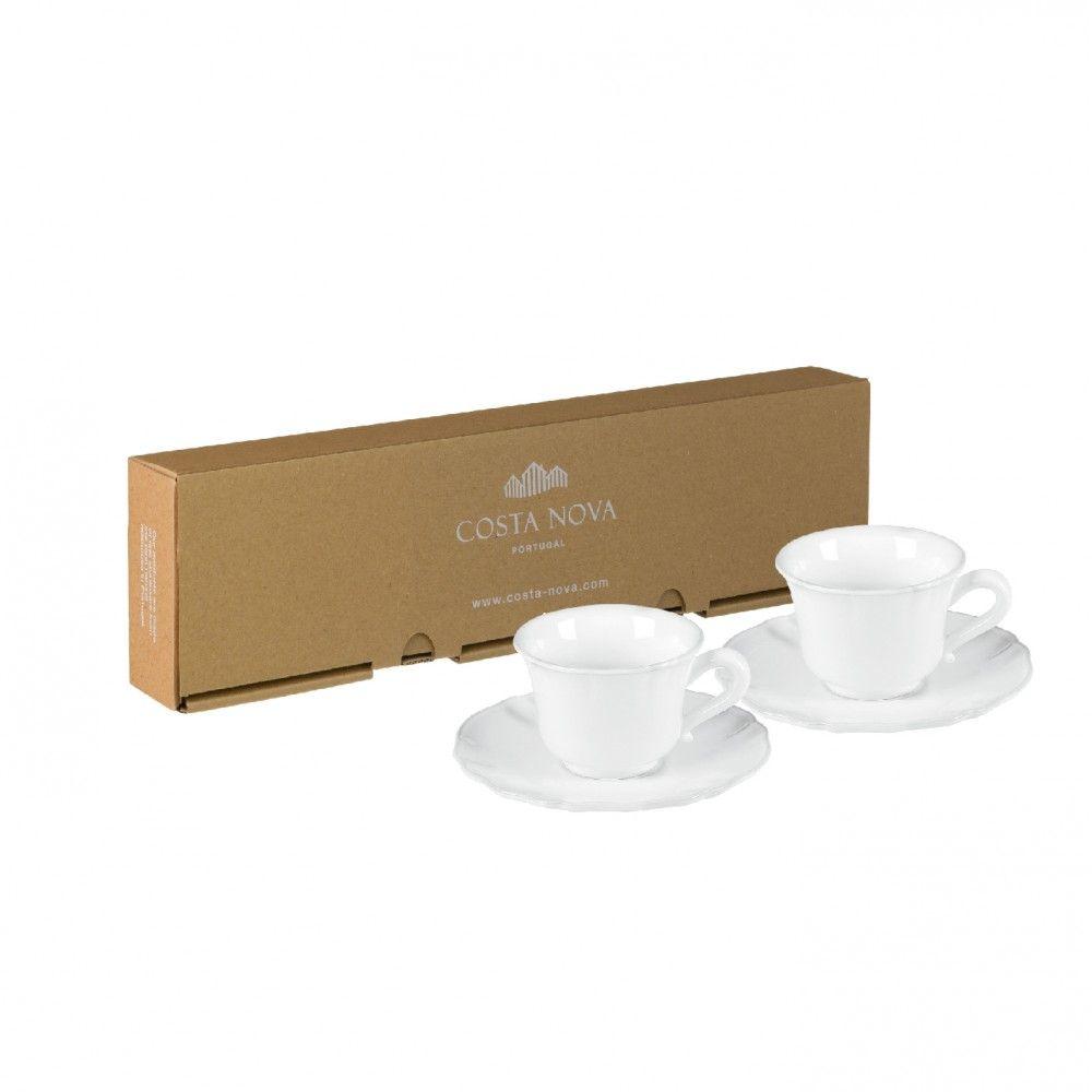 Gift 2 Tea Cups And Saucers Alentejo Costa Nova