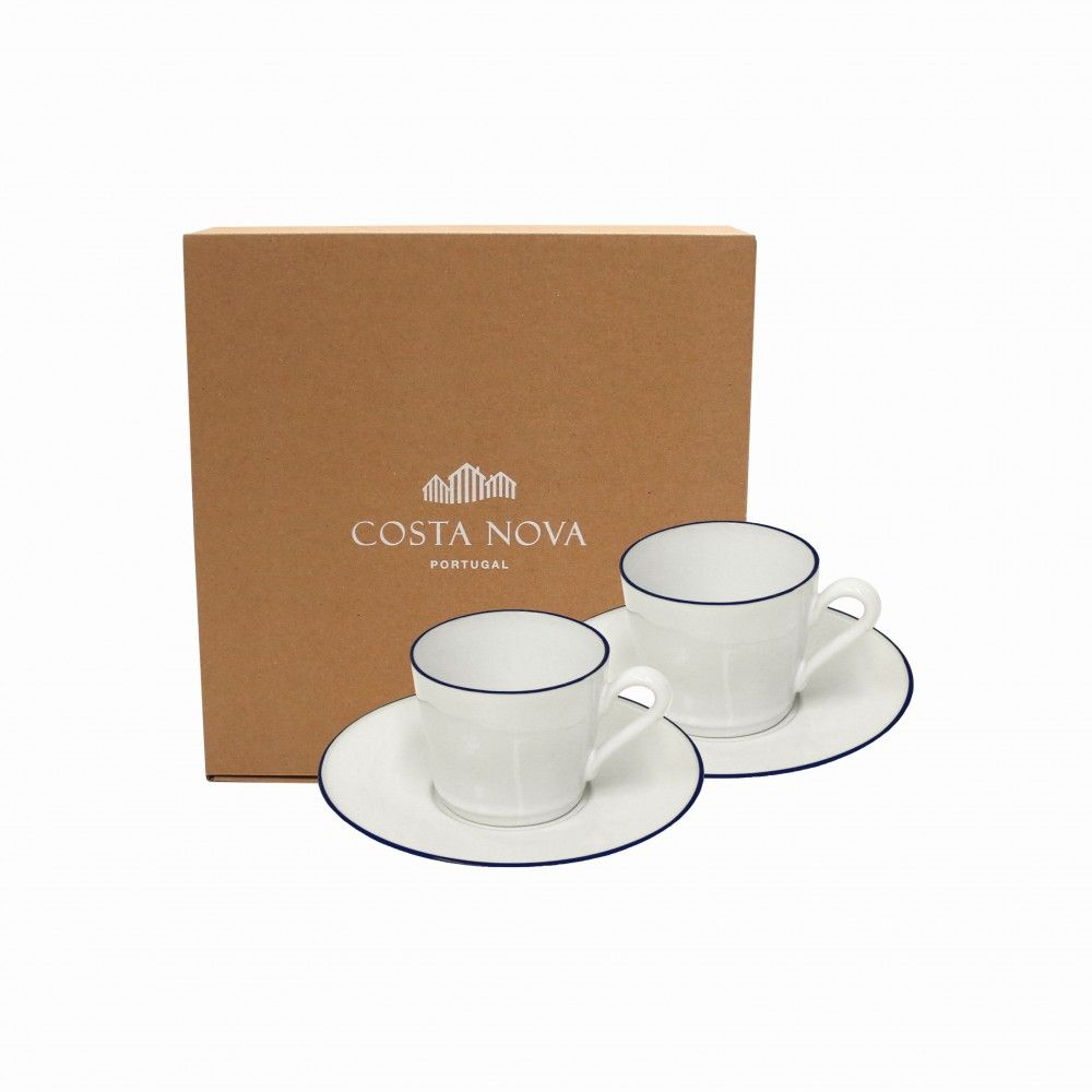 GIFT 2 TEA CUPS AND SAUCERS BEJA