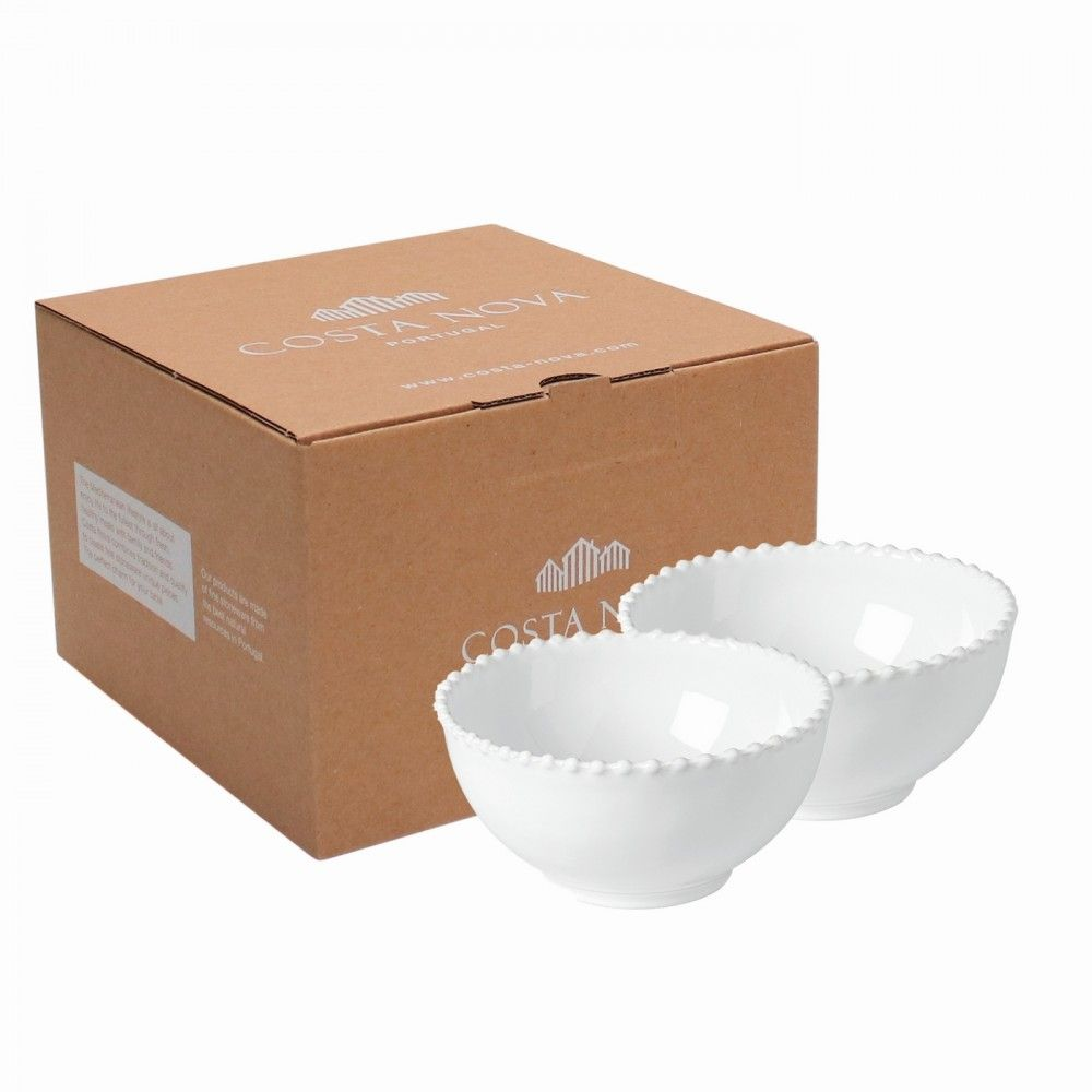 GIFT 2 SOUP/CEREAL BOWLS PEARL