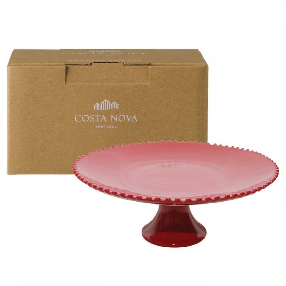 GIFT FOOTED PLATE PEARL