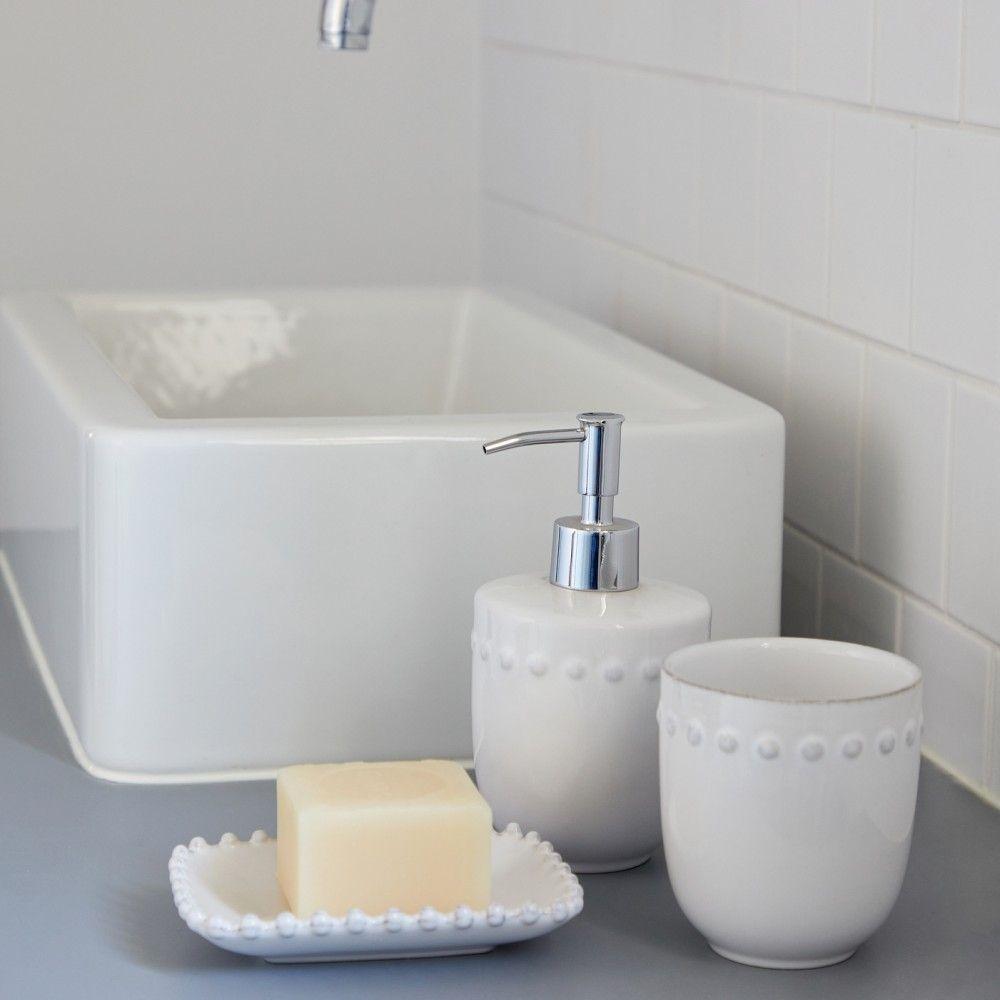 "SOAP/LOTION PUMP 4"" PEARL BATH"