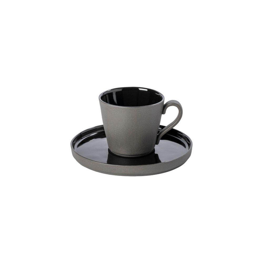 TEA CUP AND SAUCER 7 OZ. LAGOA ECO GRES