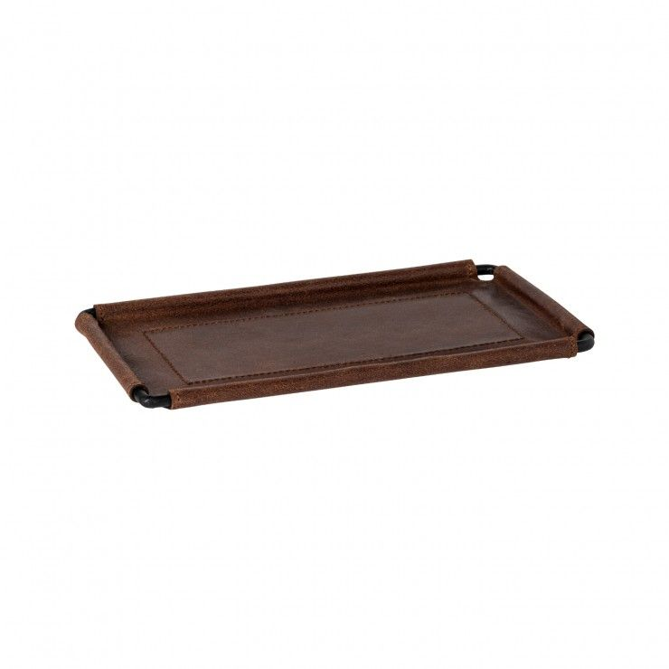 "LEATHER RECT. TRAY 10"" LEATHER COLLECTION"