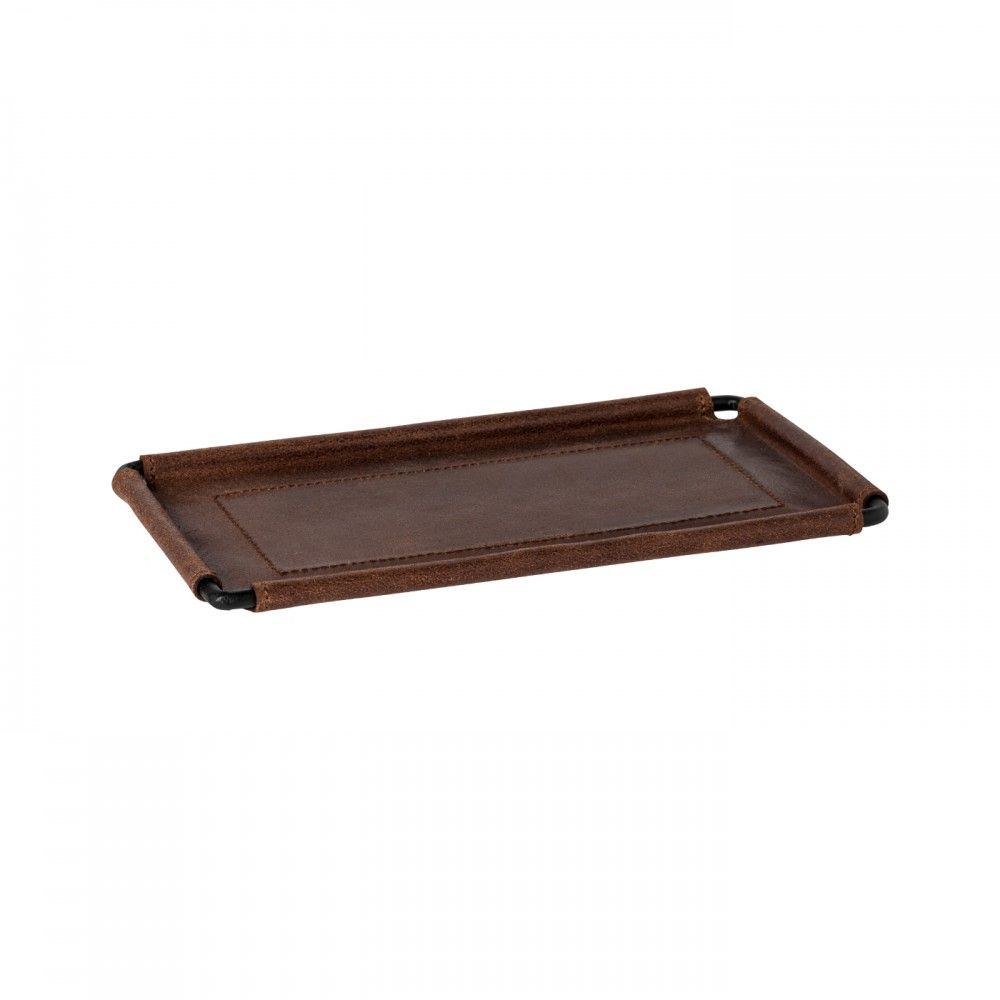 """LEATHER RECT. TRAY 10"""" LEATHER COLLECTION"""