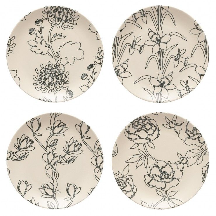 "SET 4 SALAD/DESSERT PLATES 9"" ELEMENTS"
