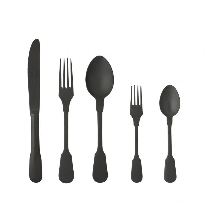 SAGA FLATWARE 20 PCS - MATTE BLACK