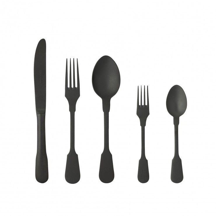 SAGA FLATWARE 5 PCS - MATTE BLACK